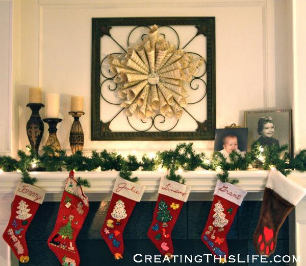 sheet music wreath star