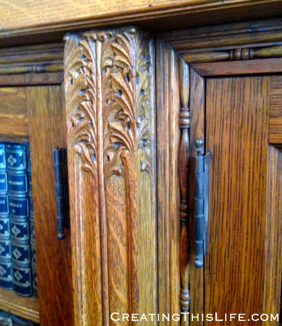 Carved wood detail