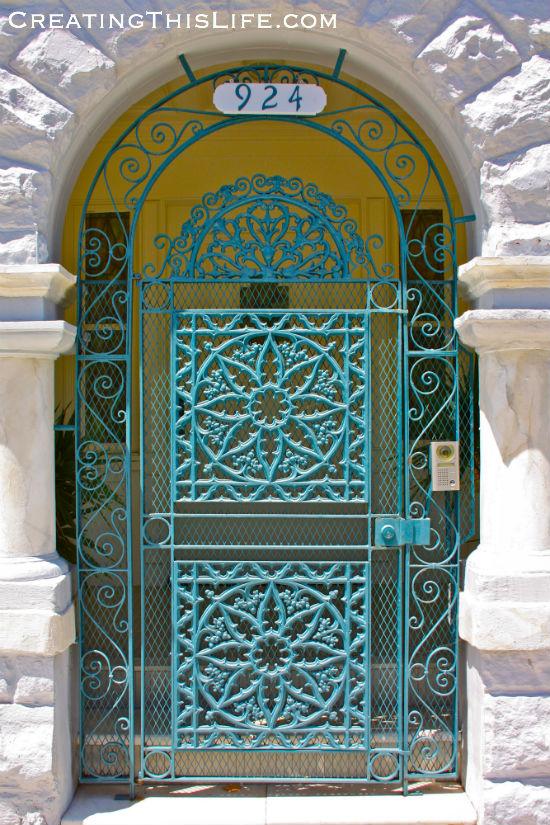 aqua-metal-doorway-san francisco