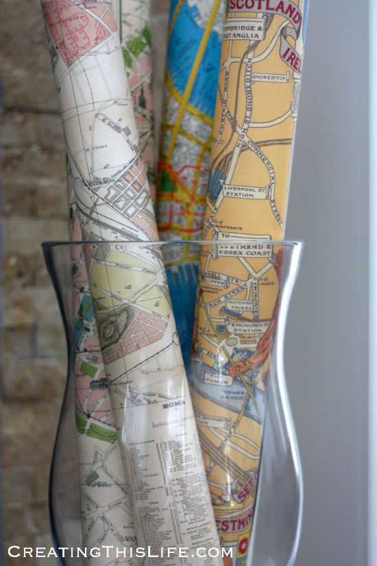 rolled up maps in hurricane