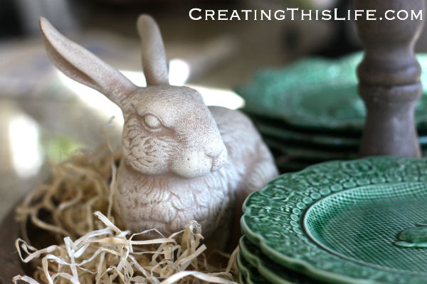 spring-bunny-figurine-in-straw