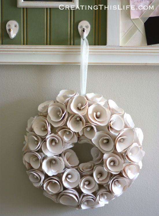 wreath in home office