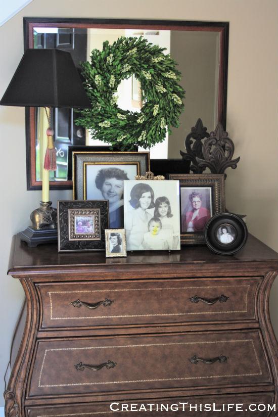 Framed Mothers Day photos at CreatingThisLife.com