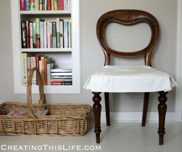 Quick antique chair makeover at CreatingThisLife.com