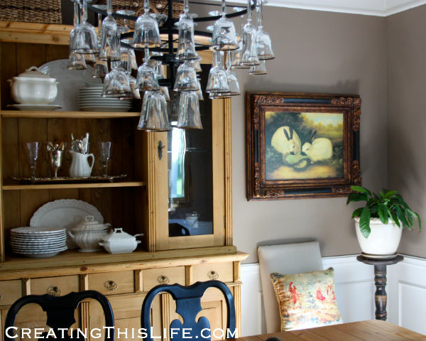 Dining room at CreatingThisLife.com