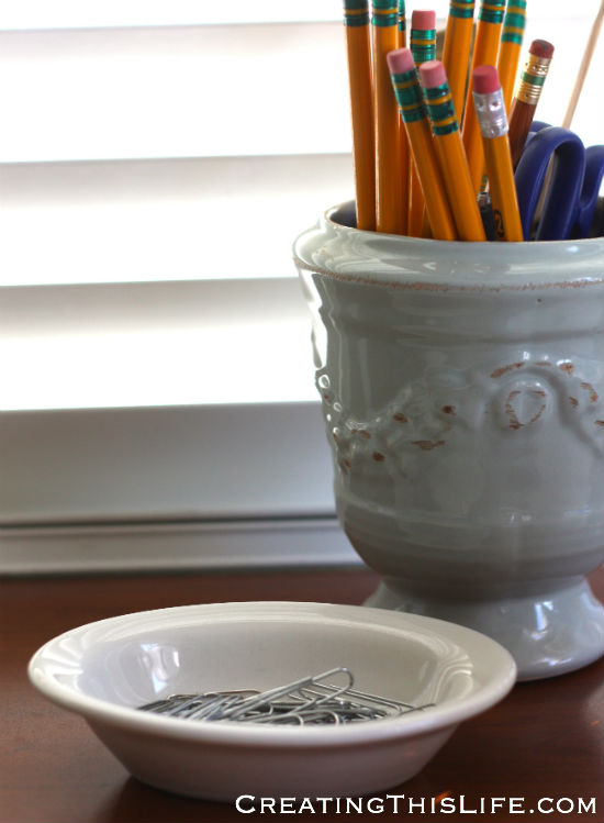 pretty office accessories at CreatingThisLife.com