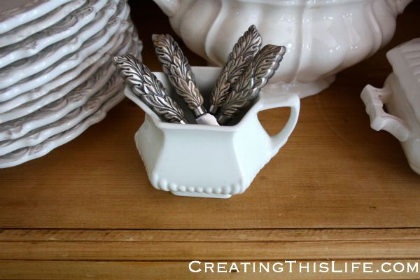 Small white creamer