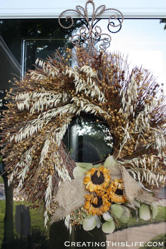 Fall wreath before