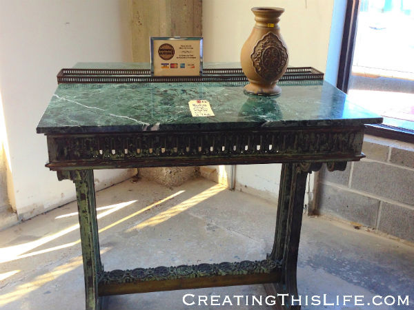 Marble Bank Table
