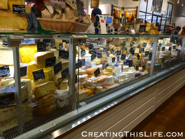 Cheese case at Eataly Chicago