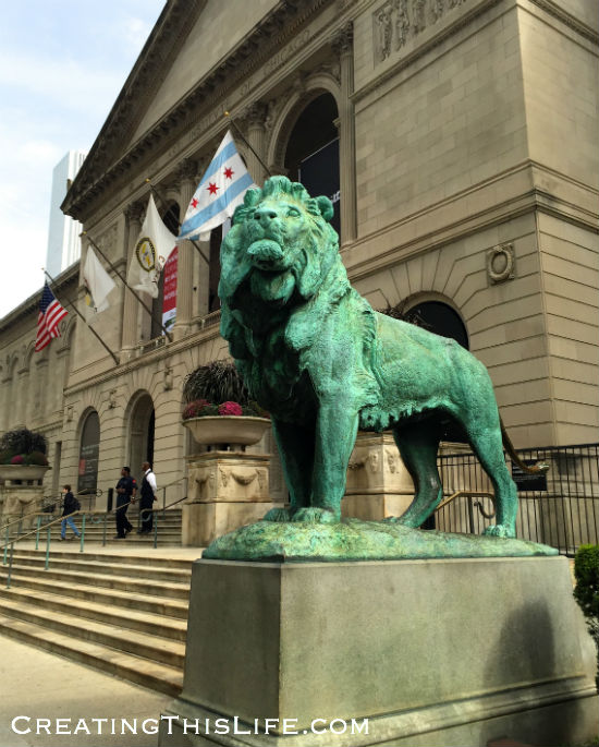 Chicago Art Institute Lion