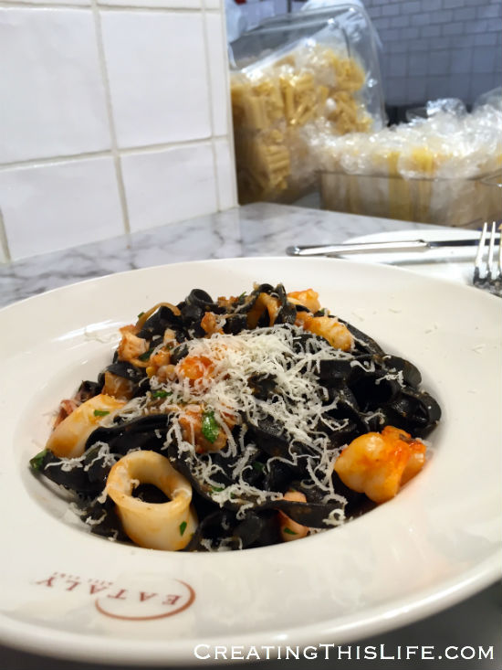 Eataly Chicago seafood pasta dish