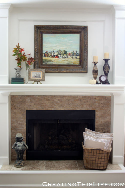 Fall Family Room Fireplace