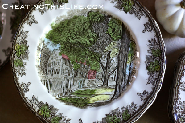 Johnson Brothers Friendly Village The Village Street dinner plate