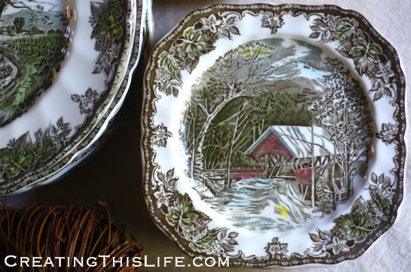 Johnson Brothers Friendly Village square salad plates