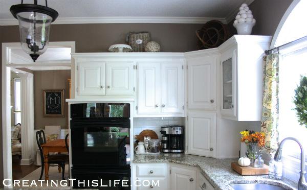 Neutral kitchen at CreatingThisLife.com