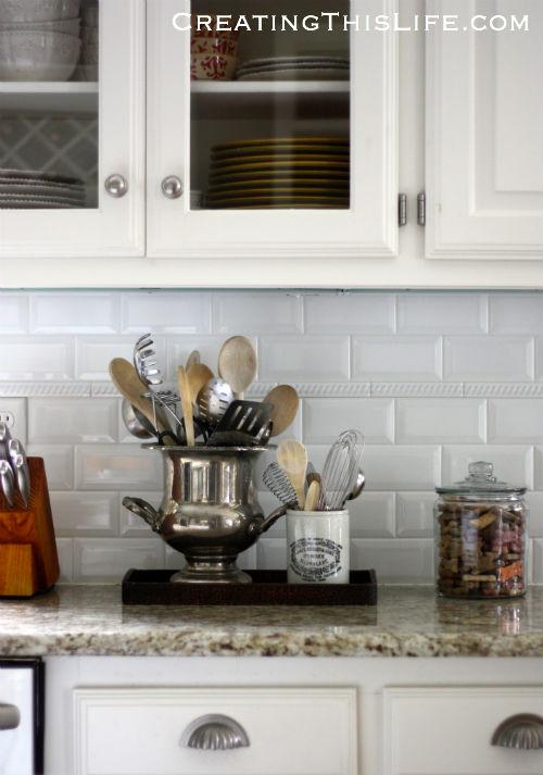 Antique kitchen utensil holders