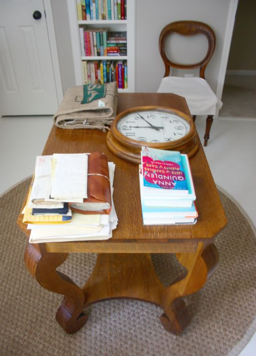 Top of library table