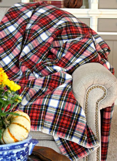 Eddie Bauer Plaid Wool Blanket