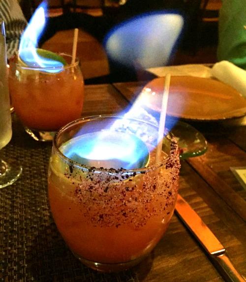 Mercadito Chicago Flaming Margaritas