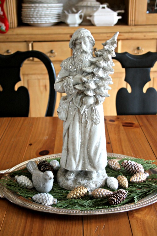 Woodland Santa with pinecones and greenery