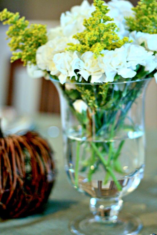 white carnation arrangement