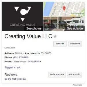 Creating Value LLC Google My Business