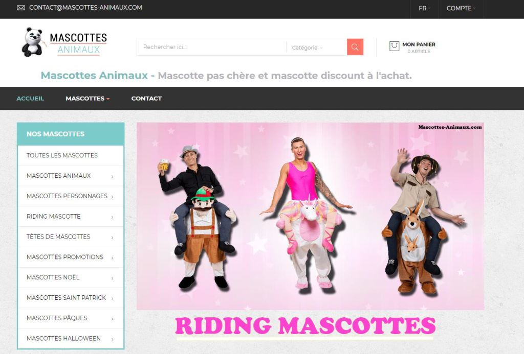 site mascottes animaux