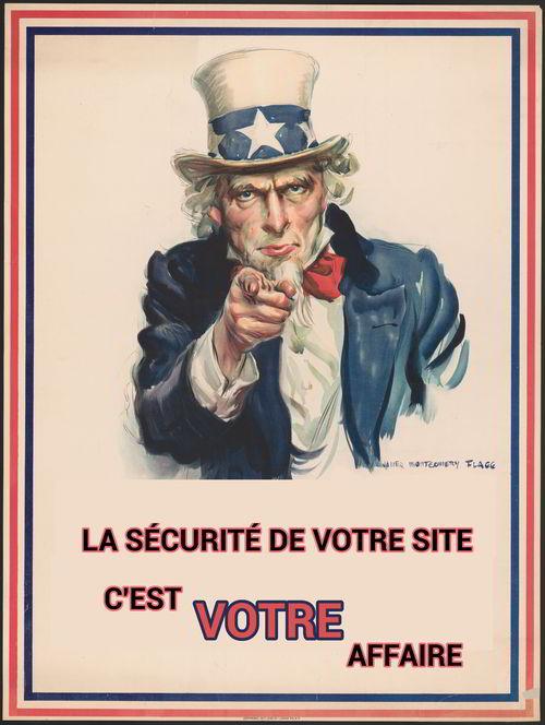 La sécurité de votre site, c'est votre affaire