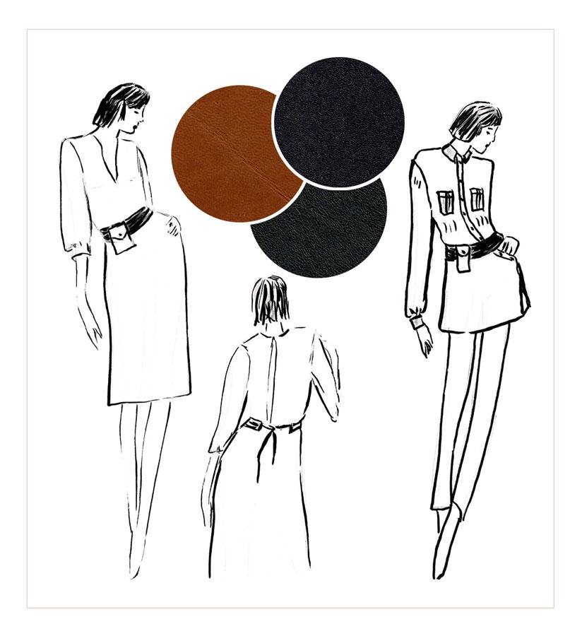 NATI - créations d'une rêveuse | Créatrice de mode | Annecy & Villaz | collection automne hiver 2020 - ceinture Angie