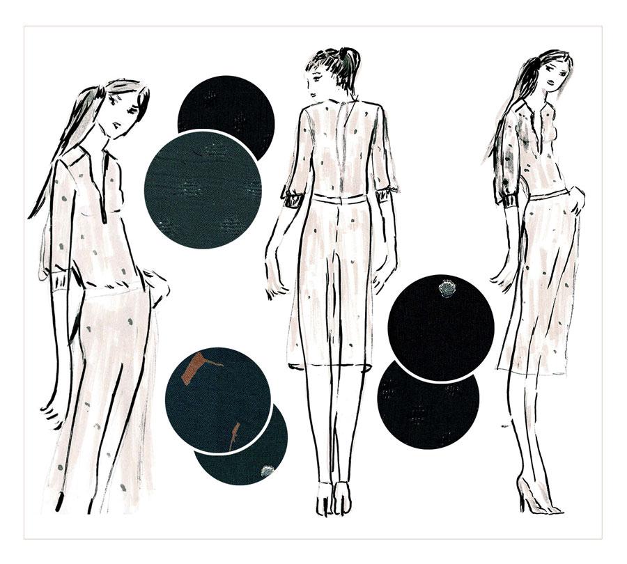 NATI - créations d'une rêveuse | Créatrice de mode | Annecy & Villaz | collection automne hiver 2020 - robe Vanessa