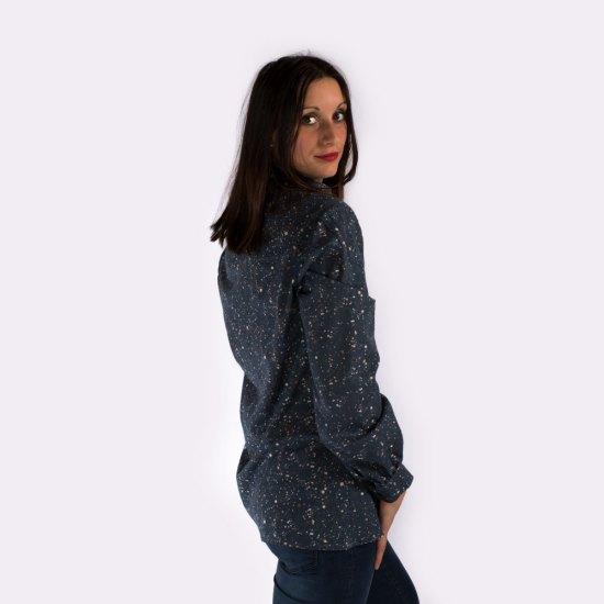 NATI - créations d'une rêveuse | Créatrice de mode & prêt à porter féminin | Annecy & Villaz | Boutique | Chemise Rosemary à motifs - Automne-Hiver 2019