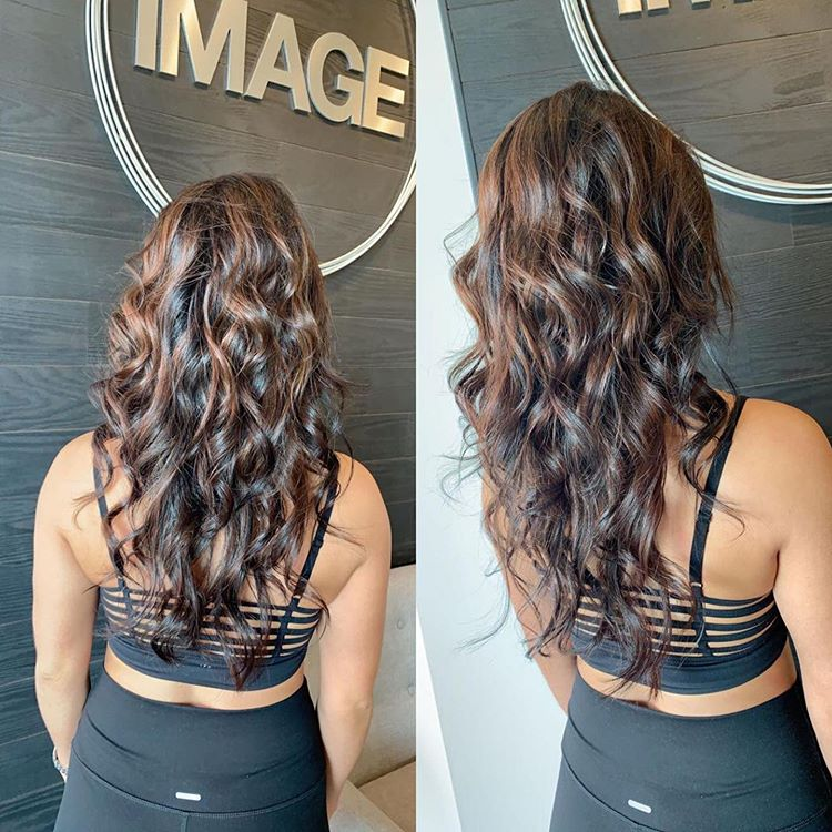 Balayage and haircut with oligo blacklight, Greenville SC