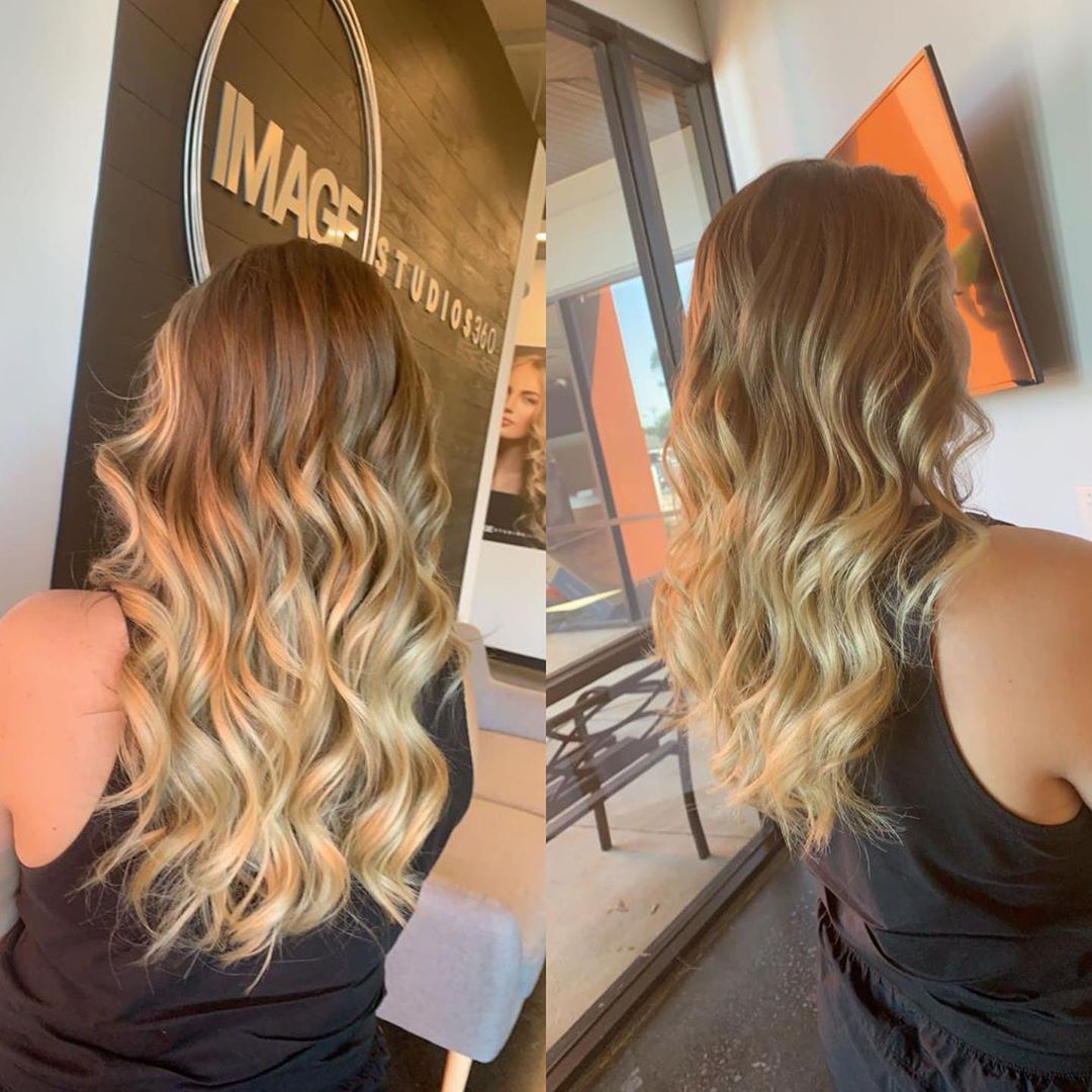 Hair balayage in Greenville SC
