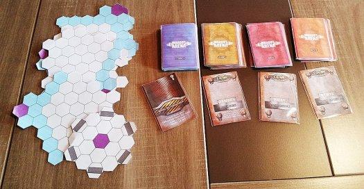 Premier prototype du jeu de plateau Warbot Arena