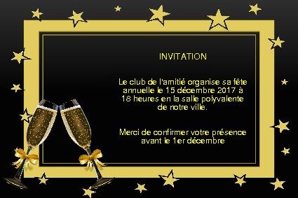 cartes d invitation gratuite section