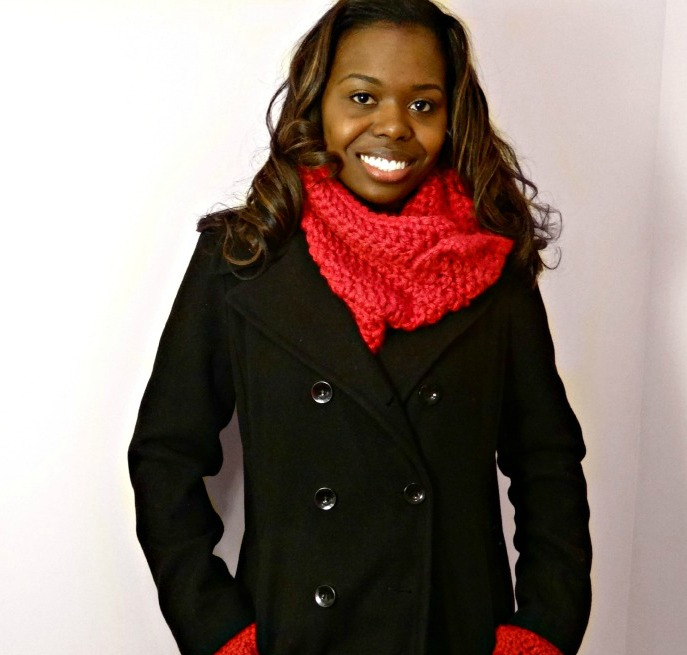 Soft Chunky Collared Button Cowl