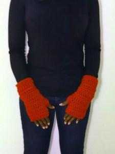 chunky soft fingerless gloves