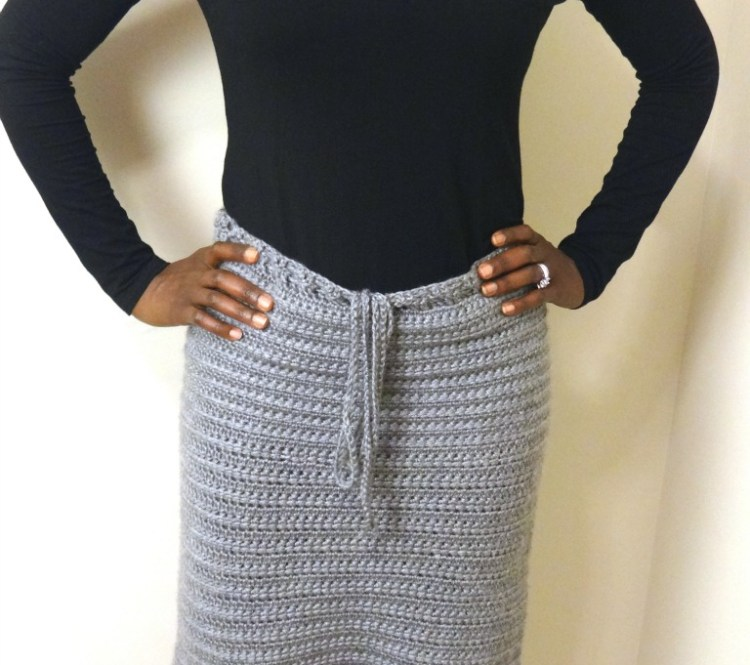 custom handmade knee-length pencil skirt