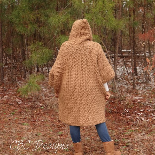 Hooded Poncho Back