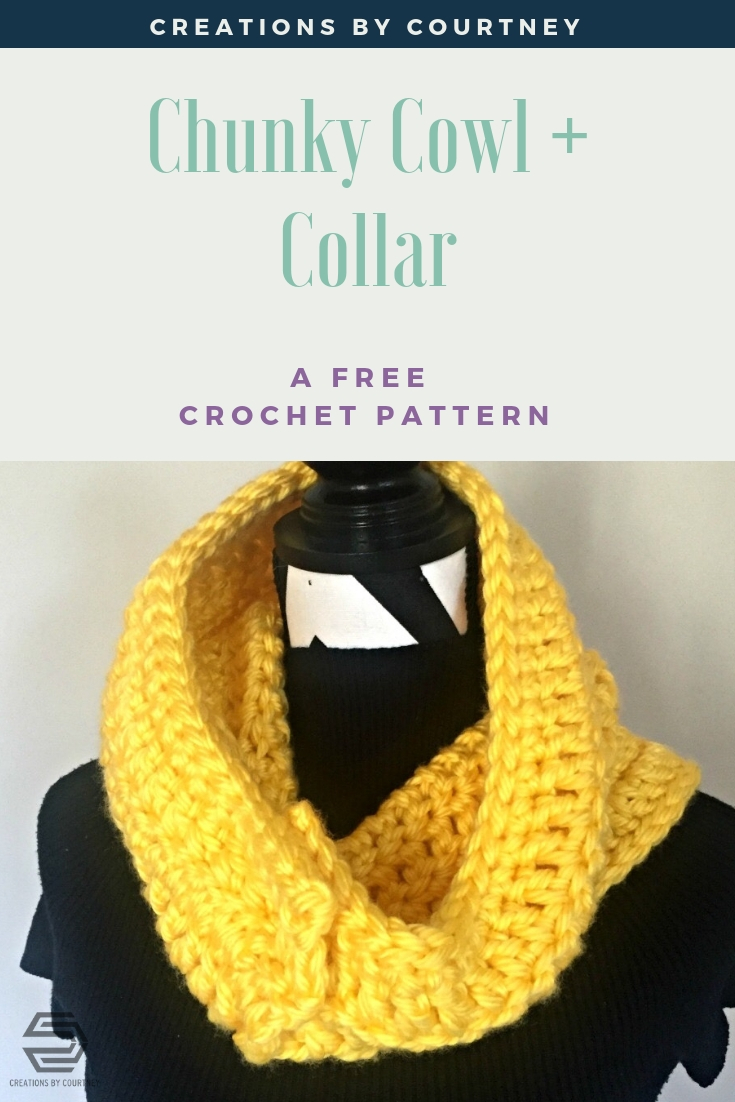 Chunky Cowl + Collar, free crochet pattern
