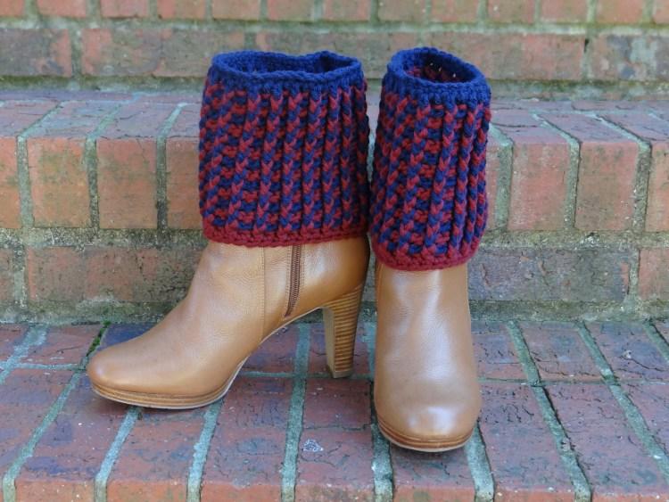 Ribbed Boot Cuffs crochet pattern