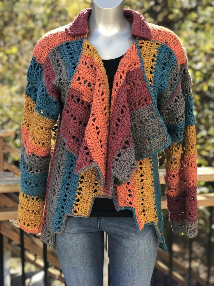 X-capade Cardigan Crochet Pattern