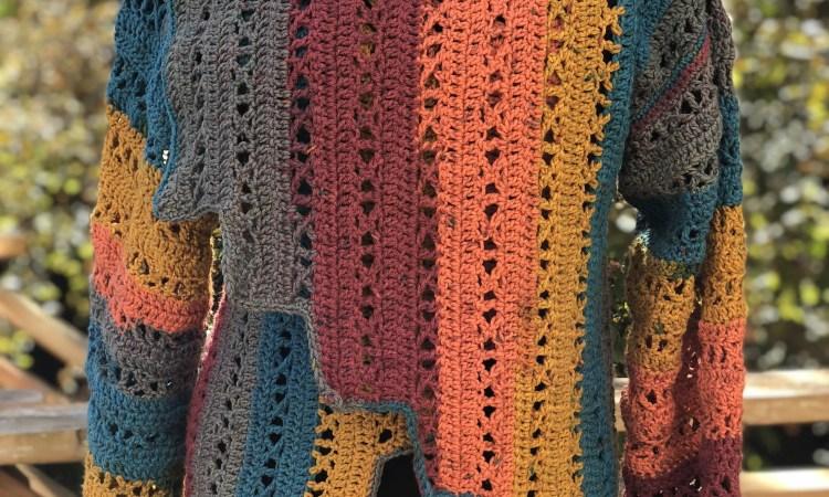 X-capade Cardigan, premium crochet pattern