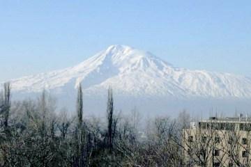 Mount Ararat seen from the city of Yerevan
