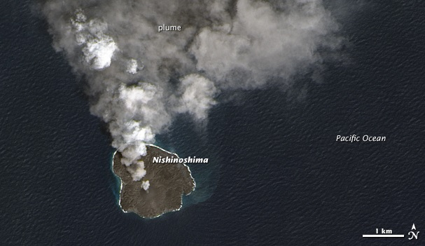 NASA: Nishinoshima, also known as Snoopy Island