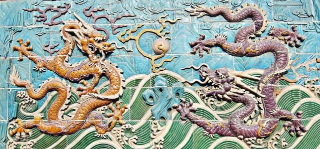 Chinese Dragon tiles, Photo Credit: Shizhao