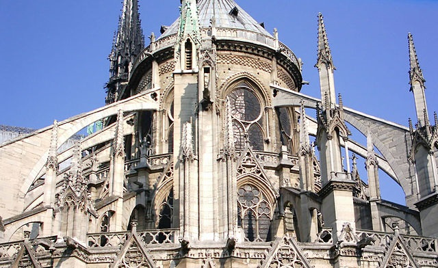Notre Dame flying buttresses, photo credit: Lusitana