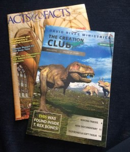 Creation Club Magazine with Acts & Facts behind
