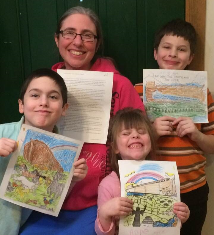 Coloring Pages Care Package for Ken Ham with the kids